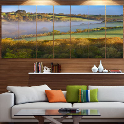 Designart Cornwall South West England Landscape Canvas Art Print - 5 Panels