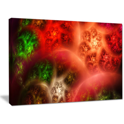Designart Red Magic Stormy Sky Abstract Canvas ArtPrint