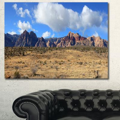 Designart Red Rock Canyon Landscape Landscape Canvas Art Print