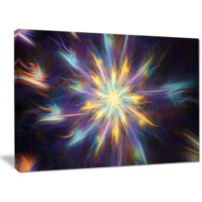 Designart Shining Multi Color Exotic Flower FloralCanvas Art Print