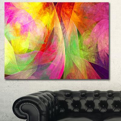 Designart Spectacular Multi Color Pattern Floral Canvas Art Print