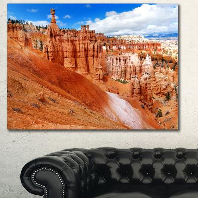Designart Stunning Red Sandstone Hoodoos LandscapeCanvas Art Print
