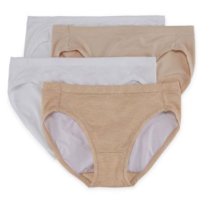 Hanes Ultimate™ Cool Comfort™ 4-pc. Microfiber Bikini Panty Hxmfbk