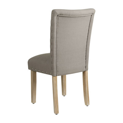HomePop Classic Parsons Chair with Nailheads