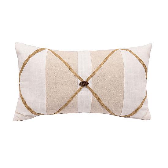 HiEnd Accents Linen Pillow w/Button