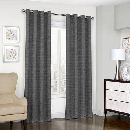 Eclipse Trevi Blackout Grommet-Top Single Curtain Panel