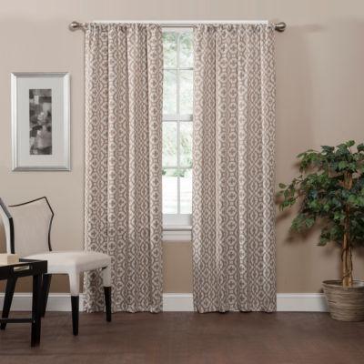 Eclipse Radnor Trellis Room Darkening Rod-Pocket Curtain Panel