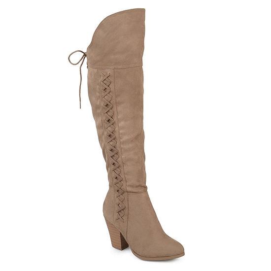 Journee Collection Womens Spritz Dress Boots Block Heel