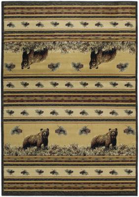 United Weavers Marshfield Genesis Collection PineCreek Bear Rectangular Rug