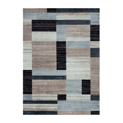 Concord Global Trading Matrix Collection Collection City Blocks Area Rug