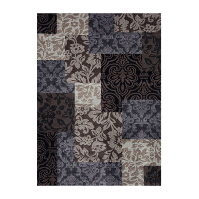 Concord Global Trading Matrix Collection Collection Vintage Damask Area Rug