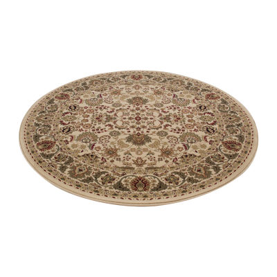 Concord Global Trading Persian Classics Collection Mahal Round Area Rug