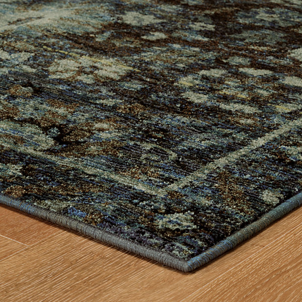 Covington Home Aurora Blues Rectangular Rugs