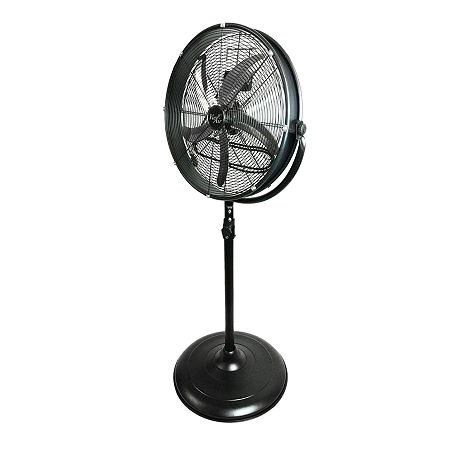 """Vie Air 20"""" Industrial 3 Speed Heavy Duty Powerful and Quiet Metal High Velocity 360 Degree Tilting Pedistal Drum Fan, One Size , Black"""
