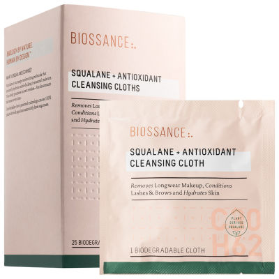 Biossance Squalane + Antioxidant Cleansing Cloths