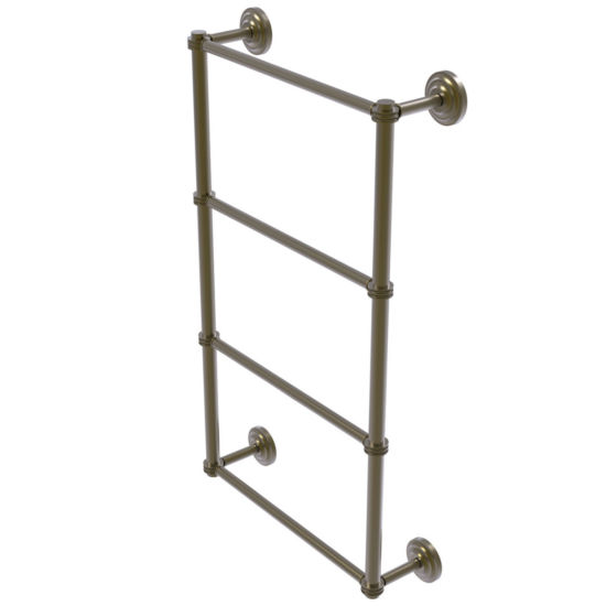 Allied Brass Que New Collection 4 Tier 36 Inch Ladder Towel Bar With Dotted Detail