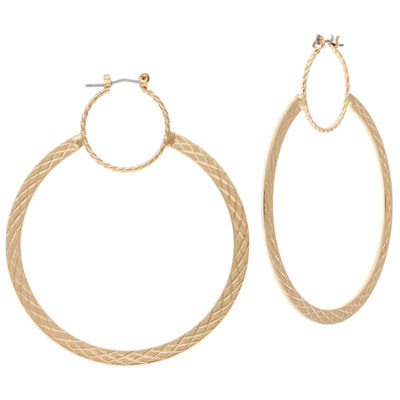 Bijoux Bar Bijoux Bar 2 1/2 Inch Hoop Earrings