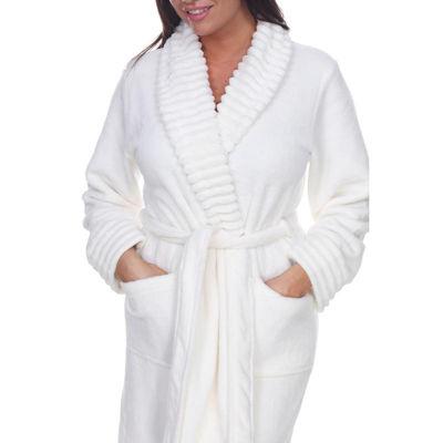 White Mark Womens-Plus Knit Robe