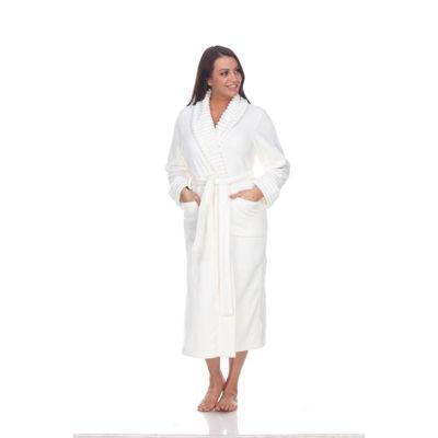 White Mark Knit Robe