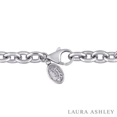 Laura Ashley Womens Sterling Silver Charm Bracelet