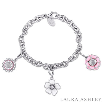 Laura Asley Flower Collection Womens 3-pc. Sterling Silver Bracelet Set