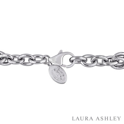 Laura Asley Garden Collection Womens 5-pc. White Sapphire Sterling Silver Bracelet Set