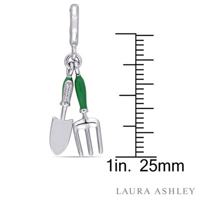 Laura Asley Secret Garden Collection White Sapphire Sterling Silver Charm