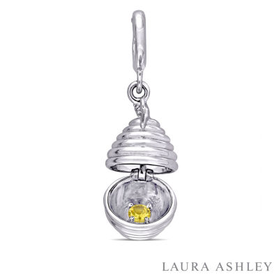 Laura Ashley Secret Garden Collection Multi Color Sapphire Sterling Silver Charm