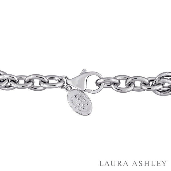 Fine Jewelry Laura Ashley Tea Party Collection Womens 7-pc. White Sapphire Sterling Silver Bracelet Set iKxYas