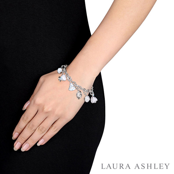 Fine Jewelry Laura Ashley Tea Party Collection Womens 7-pc. White Sapphire Sterling Silver Bracelet Set eDKpbEvy4