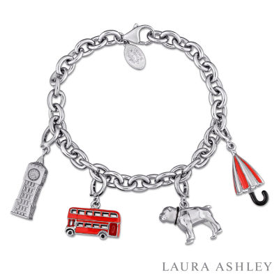 Laura Ashley Great Britain Collection Womens 4-pc. Sterling Silver Bracelet Set