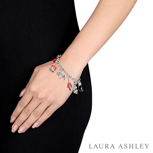 Laura Ashley Great Britain Collection Womens 7-pc. White Sapphire Sterling Silver Bracelet Set