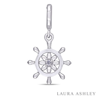 Laura Ashley Nautical Collection White Sapphire Sterling Silver Charm