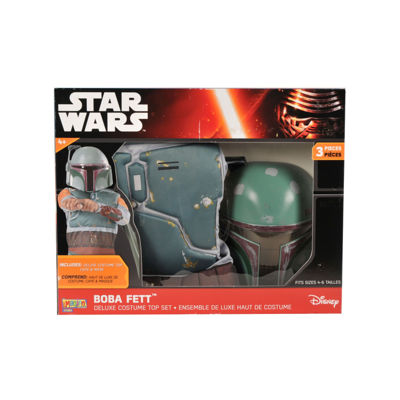 Star Wars Boba Fett Deluxe Costume Top Set