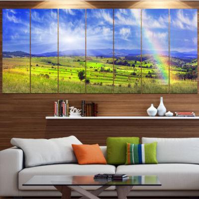 Designart Stacks In Carpathian Mountains LandscapeCanvas Art Print - 6 Panels