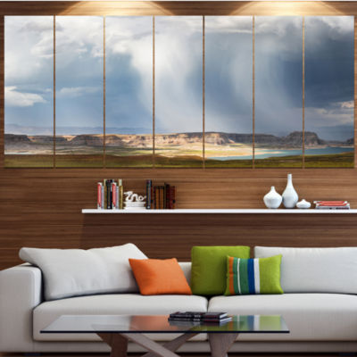Designart Lake Powell Under Clouds Landscape Canvas Art Print - 7 Panels