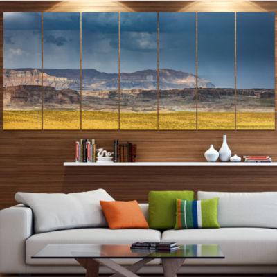 Design Art Lake Powell Panorama Landscape Canvas Art Print -4 Panels