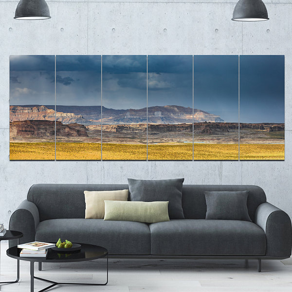 Designart Lake Powell Panorama Landscape Canvas Art Print -6 Panels