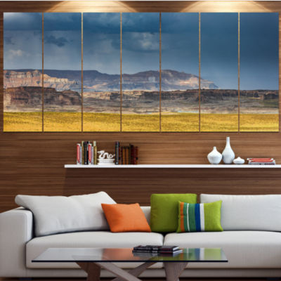 Designart Lake Powell Panorama Landscape Canvas Art Print -7 Panels