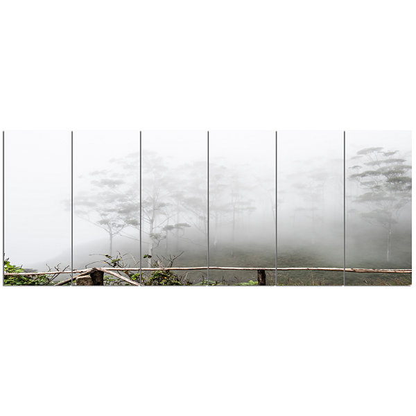 Design Art Fogs On Western Ghats Hills Landscape Canvas Art Print - 6 Panels
