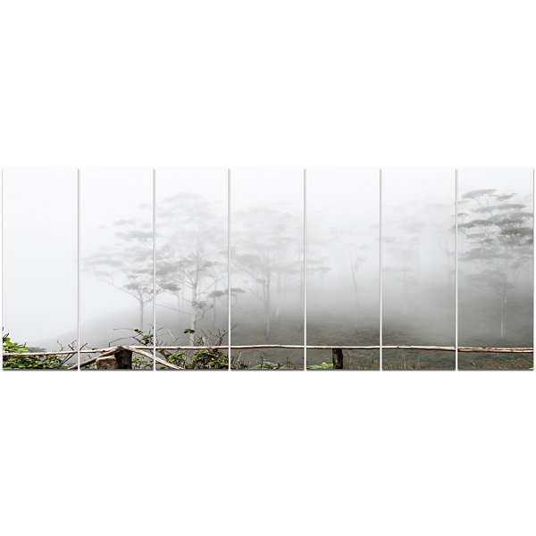 Designart Fogs On Western Ghats Hills Landscape Canvas Art Print - 7 Panels