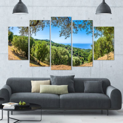 Cilentan Coast Campania Italy Landscape Large Canvas Art Print - 5 Panels