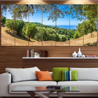 Designart Cilentan Coast Campania Italy LandscapeCanvas Art Print - 7 Panels