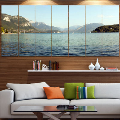 Designart Annecy Lake France Panorama Landscape Canvas Art Print - 7 Panels