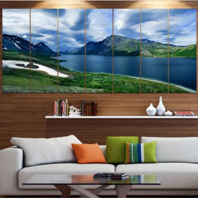Designart Polar Ural Mountains Panorama LandscapeCanvas Art Print - 4 Panels
