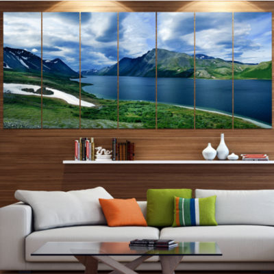 Designart Polar Ural Mountains Panorama LandscapeLarge Canvas Art Print - 5 Panels