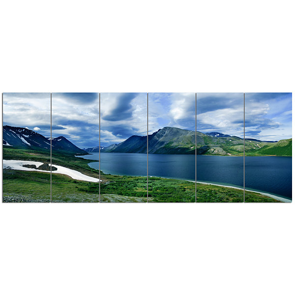Designart Polar Ural Mountains Panorama LandscapeCanvas Art Print - 6 Panels