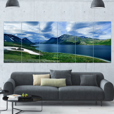 Polar Ural Mountains Panorama Landscape Canvas ArtPrint - 6 Panels