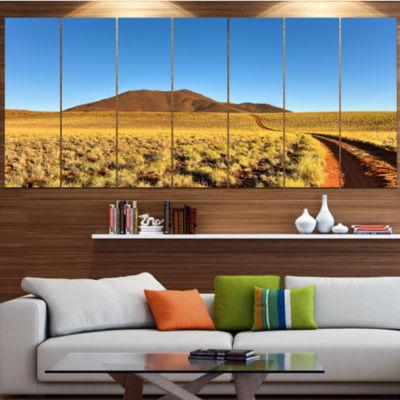Designart Namibrand Desert Landscape Landscape Large Canvas Art Print - 5 Panels