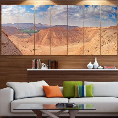 Designart Clay Rocks Around Riyadh City LandscapeCanvas Art Print - 7 Panels